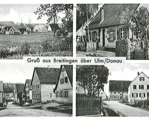Alte Postkarte aus Breitingen