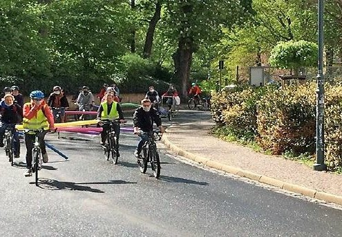Fahrrad-Demonstration